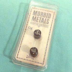 Morbid Metals 0g Music Note Heart Plugs Gauges